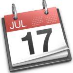 Check List – Calendários
